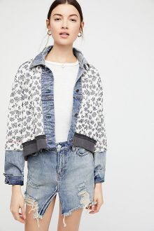 Ditsy Denim Jacket, Free People